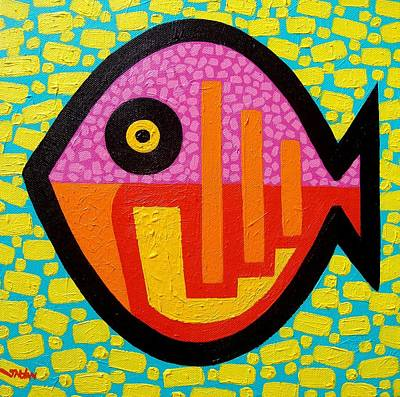 Tropical Fish Painting - Rebel Fish by John  Nolan