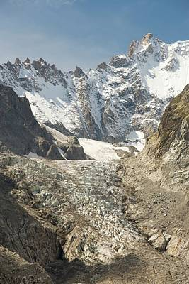 Serrated Photograph - Receding Glacier De Saleina by Ashley Cooper