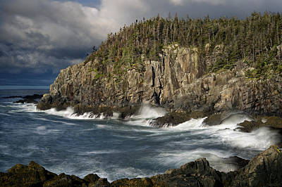 Quoddy Head State Park Photograph - Receding Storm At Gulliver's Hole by Marty Saccone