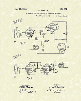 1923 Drawing - Receiver 1923 Patent Art by Prior Art Design