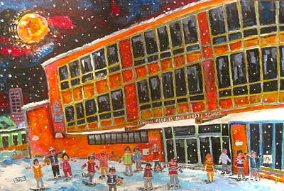 Painting - Recess At J.p.p.s. Simon Says by Michael Litvack