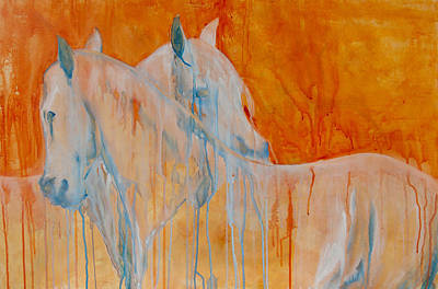 Equine Painting - Reciprocity by Jani Freimann