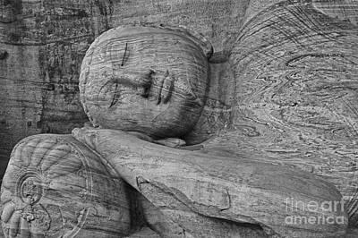 Faith Photograph - Reclining Buddha 1 by Hitendra SINKAR
