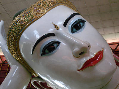 Reclining Buddha Yangon Myanmar Original by Ilse Maria Gibson