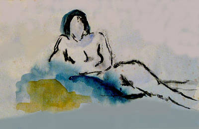 James Gallagher Painting - Reclining Figure by James Gallagher