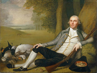 Ralph Earl Painting - Reclining Hunter by Ralph Earl