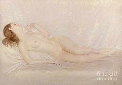 Backdrop Painting - Reclining Nude by Edward Stanley Mercer