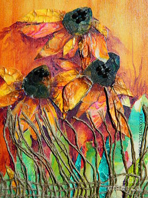 Nature Abstracts Mixed Media - Reconstruction by Donna Martin