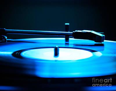 Squint Photograph - Record Blues by Sonja Quintero