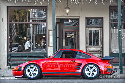 Red Photograph - Red 1982 Porsche In Jamestown by RicardMN Photography