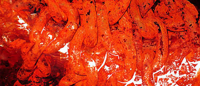 Warm Painting - Red Abstract Art - Linked - By Sharon Cummings by Sharon Cummings