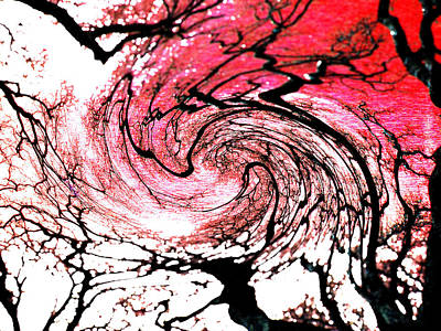 Tree Painting - Red by Coconut Lime Design