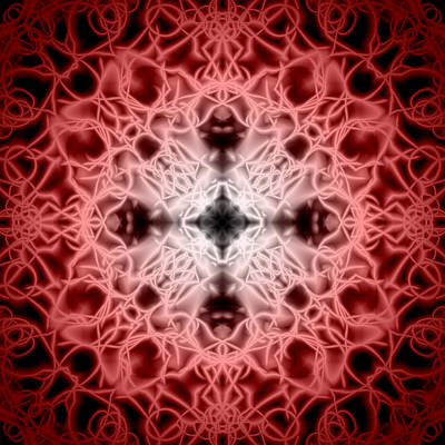 Snowflakes Digital Art - Red by Adam Romanowicz