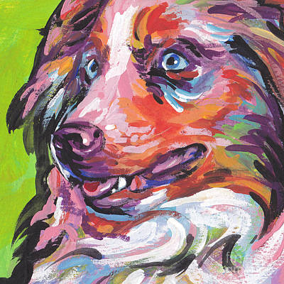 Australian Shepherd Painting - Red And Awesome by Lea S