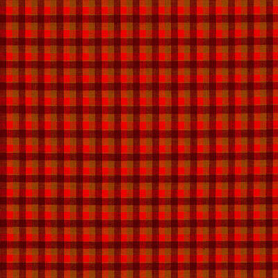 Red And Black Checkered Tablecloth Cloth Background Print by Keith Webber Jr