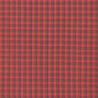 Red And Green Checked Plaid Pattern Cloth Background Print by Keith Webber Jr