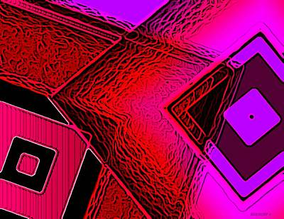 Geometric Art Digital Art - Red And Pink In Abstract Art by Mario Perez