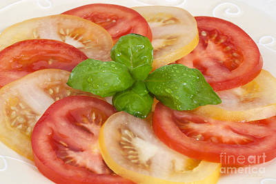 Fresh And Delicious Photograph - Red And Yellow Tomatoes  by Iris Richardson