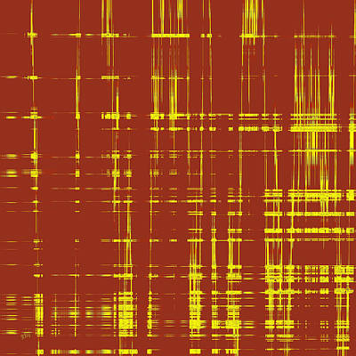 Ben Gertsberg Digital Art - Red And Yellow Wave No 1 by Ben and Raisa Gertsberg