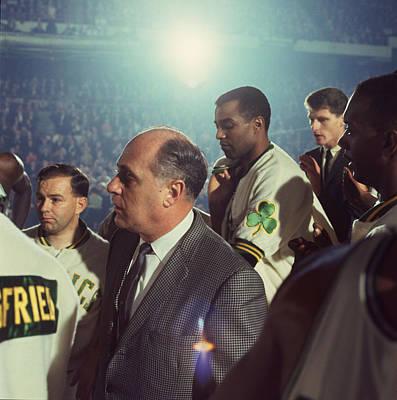 Basketball.boston Celtics Photograph - Red Auerbach Boston Celtics Legend by Retro Images Archive