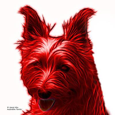 Dog Digital Art - Red Australian Terrier Pop Art - 6500 Fs by James Ahn