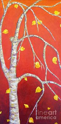 Landscape Painting - Red Autumn by Cristina Stefan
