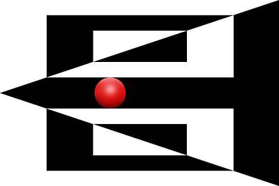 Mike Mcglothlen Modern Art Digital Art - Red Ball 3 by Mike McGlothlen