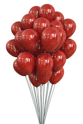 Red Balloons Photograph - Red Balloons by Ktsdesign