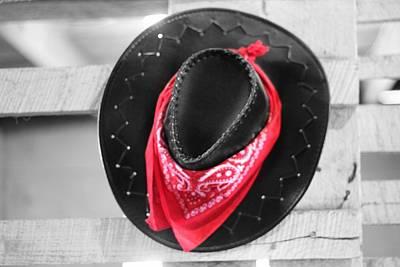 Red Bandana Black Hat Print by Dan Sproul