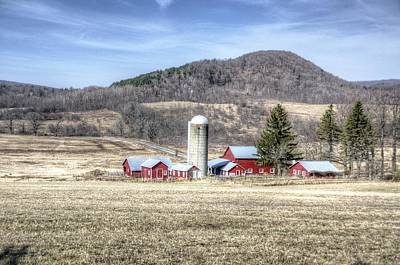 Barnyard Photograph - Red Barn In Spring by Donna Doherty