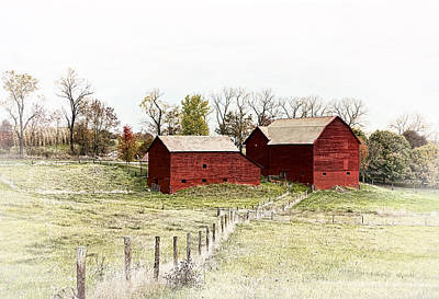 Fine Photograph - Red Barn by Marcia Colelli