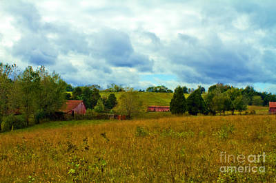 Red Barn Six Print by Ken Frischkorn