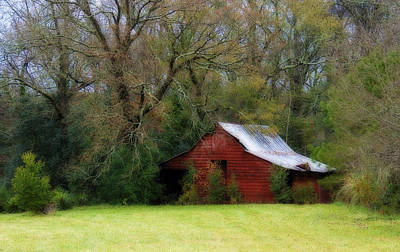 Red Barn Print by Steven Richardson