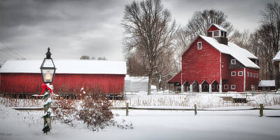 Red Barns Print by Michael Petrizzo