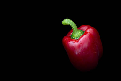Kitchen Photograph - Red Bell Pepper by Mark McKinney