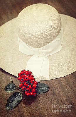 Red Berries And Hat Print by Svetlana Sewell