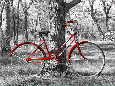 Red Bicycle Print by James Granberry