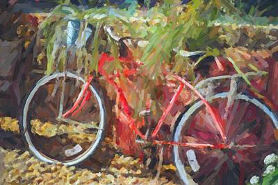 Painting - Red Bike  by Tammy Lee Bradley