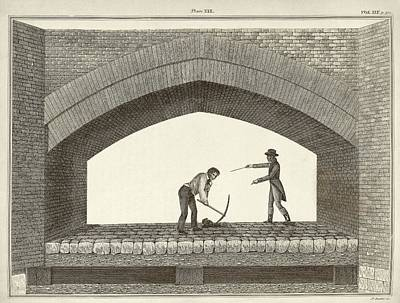 Red Bridge Excavations Print by Middle Temple Library