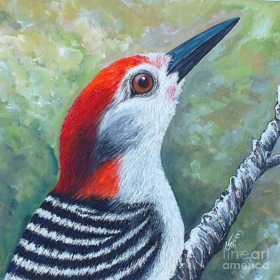 Woodpecker Mixed Media - Red Brings Hope 1 by GG Burns