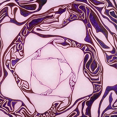 Red Cabbage Original by Garry McMichael