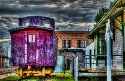Old Caboose Digital Art - Red Caboose by Aliceann Carlton
