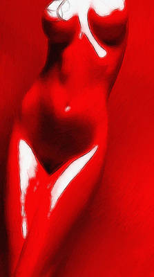 Female Body Painting - Red Candy by Stefan Kuhn