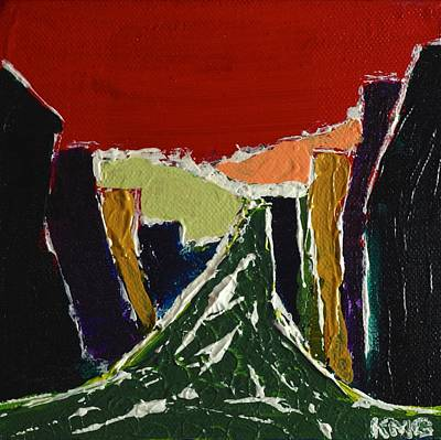 Abstract Painting - Red Canyon by Kimberly Maxwell Grantier
