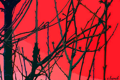 Abstract Forms Digital Art - Red by Carol Lynch