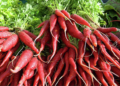 Farmstand Photograph - Red Carrots by Charlette Miller