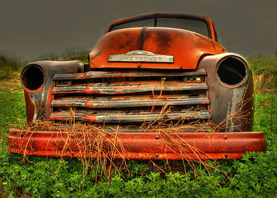 Red Chevy Print by Thomas Young