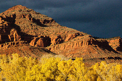 Red Cliffs National Recreation Area Fall Colors Leeds Utah Print by Robert Ford