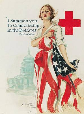Advertisment Painting - Red Cross - Poster  by Roberto Prusso