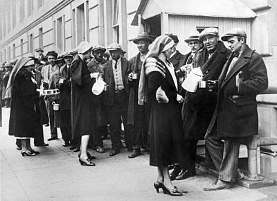 Helping Photograph - Red Cross Serves Coffee To Vets by Underwood Archives